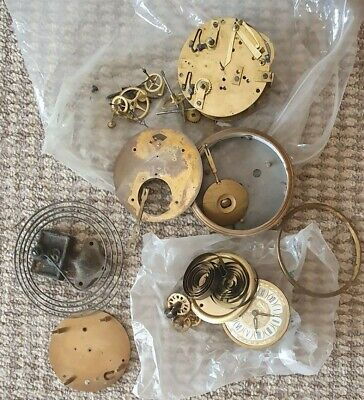 Clock Movements and clock parts including chime bars for spares or repair