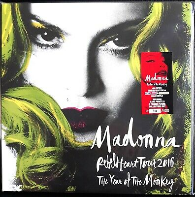 MADONNA - YEAR OF THE MONKEY RARE LIVE 3LP colored vinyl!! MADAME X MDNA