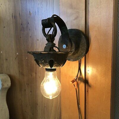 Antique Craftsman Arts & Crafts Copper Outdoor Wall Sconce