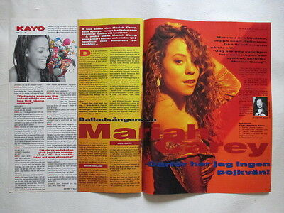 Mariah Carey pages cuttings clippings Sweden