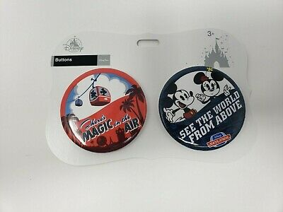 Disney 2 Button Skyliner Set Of There's Magic In The Air And See The World Above
