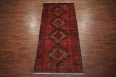 5X12 Antique Kurdish Gallery Runner Hand-Knotted Wool Rug (4.11 x 11.6)