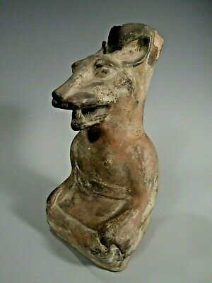 Pre Columbian Peru North Coast Moche Mochica Snarling Fox Vessel ca. 500 AD