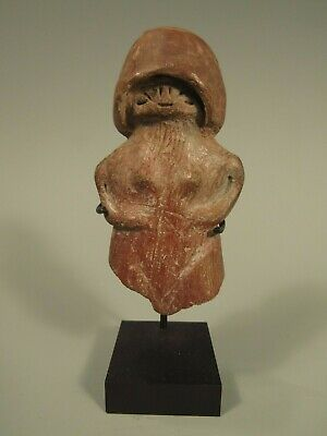 Pre-Columbian Valdivia Ecuador Ceramic Partial Female Figure ca 3500 BC-1800 BC