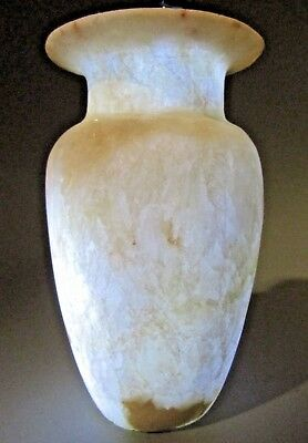 Fine Grand Tour Egypt Egyptian Provincial STYLE Carved Alabaster Vessel 19-20th