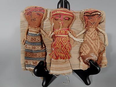 Peru Peruvian Central Coast Chancay Fabric Cotton Burial Dolls  #3