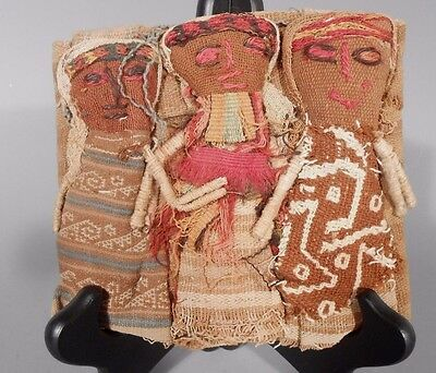 Peru Peruvian Central Coast Chancay Fabric Cotton Burial Dolls  #2