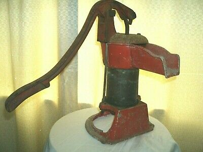 Cast Iron & Brass Cylinder pitcher pump, vintage or antique & RARE well pump.