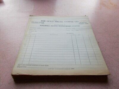 VGT MAXWELL HOUSE ~ GOLD METAL COFFEE CO. CLEVELAND OH. INVOICE RECEIPTS 27-pcs.