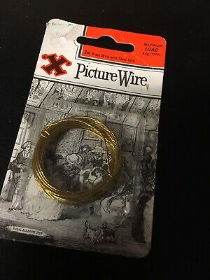 No.2 Brass Picture Wire, 3m -
