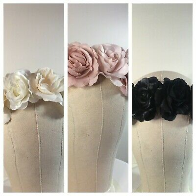 Spring Racing Race Party Melbourne Cup Headband Black Beige Pink Fascinator