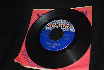 FOUR TOPS 45 RPM  It's The Same Old Song / Your Love Is Amazing Motown M-1081