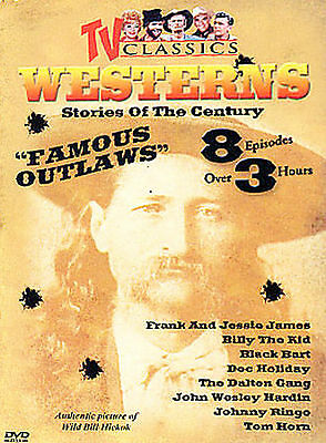 TV Classics  Westerns Vol. 4 Stories of the Century Famous Outlaws DVD  NEW
