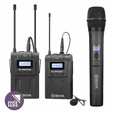 Boya WM8 PRO UHF Wireless Mic System with Handheld & Beltpack Transmitters