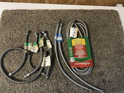 Plumbing Lot 8 Pcs Stainless Steel Faucet Supply Lines Ice Maker Hose