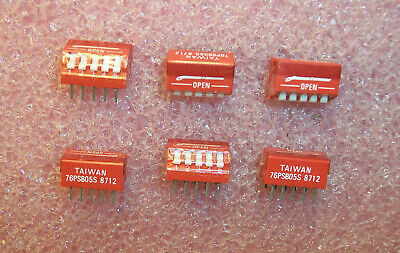 Qty (56) 76Psb05S Grayhill 5 Position Piano Dip Switch Spst Sealed Nos 2 Tubes