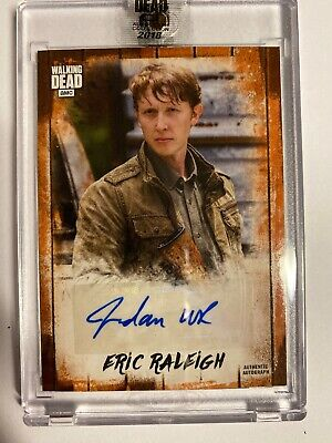 2018 Topps Amc The Walking Dead Autographed Eric Raleigh 5/50 Tv Series