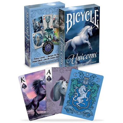 Bicycle UNICORNS by Anne Stokes playing cards Fantasy art Poker 1 Deck USPCC USA