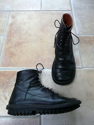 Noir À GABOR TBE BOOTS 4 BOTTINES Lacets Cuir FR 5 36 UK L4A5jR
