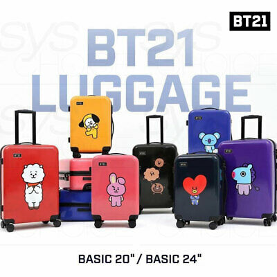 BTS BT21 Official Authentic Goods Luggage Basic Ver 20 or 24inch + Express Ship