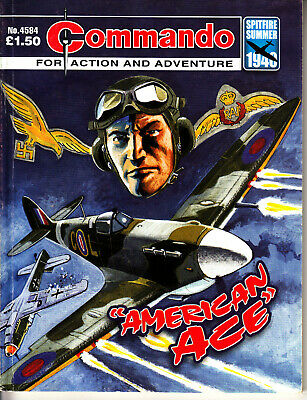 COMMANDO COMIC  War Stories in Pictures #4584 AMERICAN ACE Action Adventure