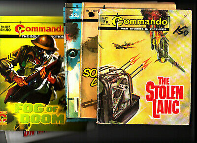 LOT of 6 COMMANDO Comics War Stories in Pictures 951-4590 Action Plus FREE POST