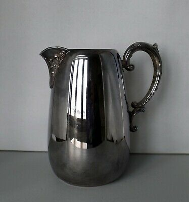 Silverplated Water Pitcher with Ice guard, #914, Wm Rogers - Eagle & Star, 8""
