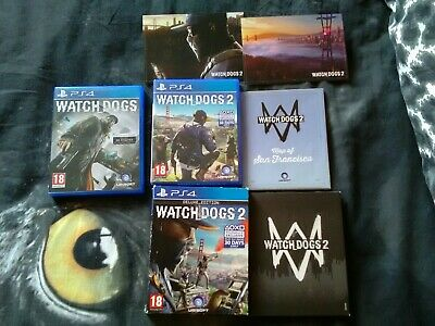 Watch Dogs 1 And 2 PS4 Sony Playstation Good Condition...