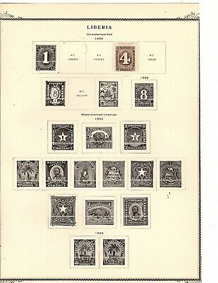 Liberia collection on  album pages - 184 stamps 1885-1923. (mb12