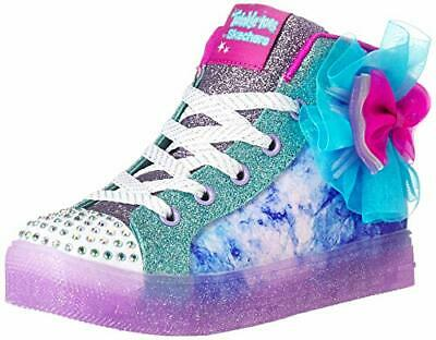 Skechers Kids Girls' Shuffle Bow Brights Sneaker, Girl's  10.5 Med  US Kid