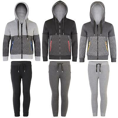 Kids Trousers or Jacket Contrast Zips Girls Hooded Top Boys Joggers 3-14 Years