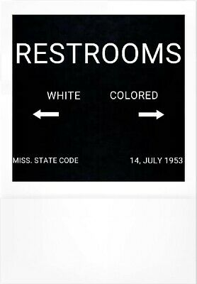 Segregation Jim Crow Diner Restroom Sign With Frame