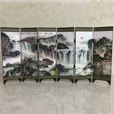 Screen Divider Oriental Commemorative Office Separator Wooden Wall Chinese