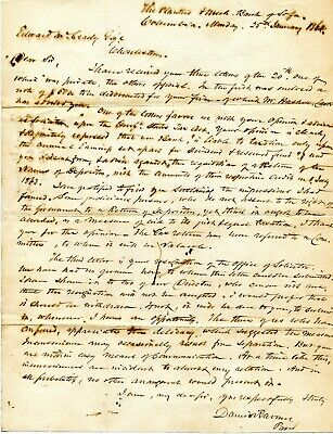 1864 CIVIL WAR LETTER DANIEL RAVENEL COLUMBIA CHARLESTON SC TO EDWARD McCRADY
