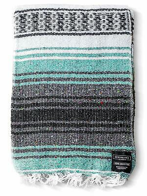 Benevolence LA Mexican Blanket Authentic Falsa -Thick Soft Woven Acrylic Yoga