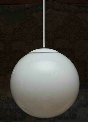 "Mid Century Modern Large Prescolite 14"" Globe Pendant Ceiling Hanging Fixture"