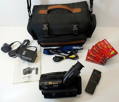Sony Handycam Video-8 CCD-TR550E + Accessories and New Tapes - 8mm Camcorder