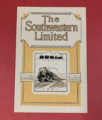 1931 The Southwestern Limited New York Central Railroad Menu