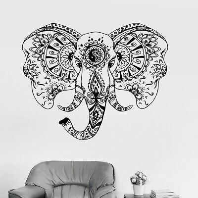 Dog Head Animal Tribal Day of the Dead wall sticker ss10