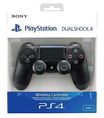 PS4 DualShock 4 Controller Black V2 NEW SEALED OFFICIAL genuine uk freepost