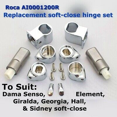 ROCA Replacement GIRALDA SENSO HALL Soft Close Toilet Seat Hinge End Caps ONLY