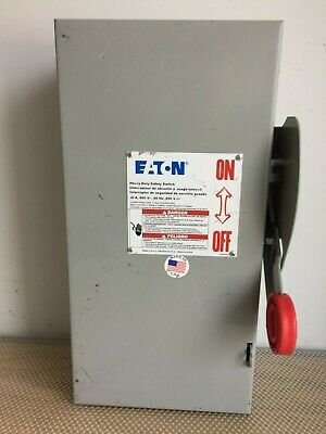 NEW EATON//CUTLER HAMMER 60 AMP NON-FUSED SAFETY SWITCH 600 VAC 60 HP DH362UGK