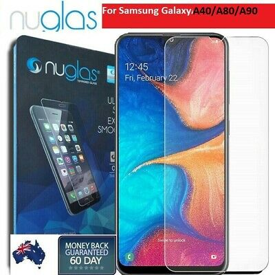 2x Nuglas Tempered Glass LCD Screen Protector For Samsung Galaxy A40 A80 A90