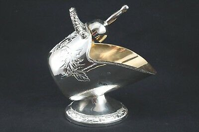 Vintage Silver Plated Victorian Style Sugar Bowl Or Candy Dish With Scoop