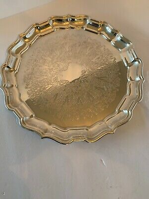 Silver Plated  Reed And Barton Chippendale 58 Serving Tray 76 Yrs Old Beautiful