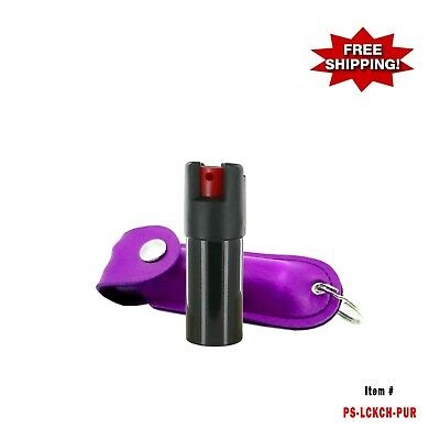 PURPLE Police Magnum .50oz w/ Case Key Chain Pepper Spray