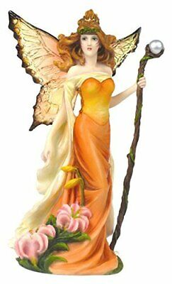 Pacific Giftware Resin Tiger Lilly Fairy Woman with Staff Statue Figurine