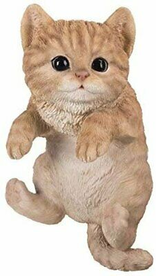 Pacific Giftware PT Realistic Look Hanging Statue Pot PAL Yellow Cat Home...