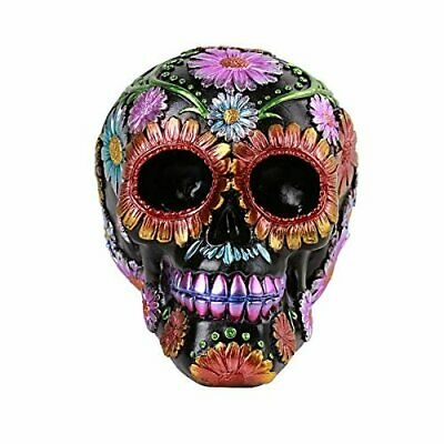 Pacific Giftware Day of The Dead Floral Skull Home Tabletop Decorative Resin...
