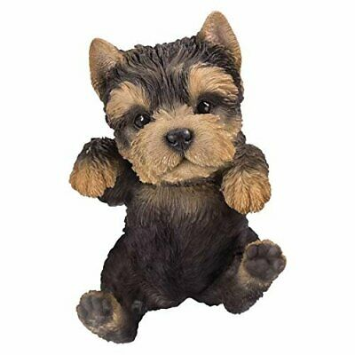 Pacific Giftware PT Realistic Look Hanging Statue Pot PAL Yorkie Puppy Dog...